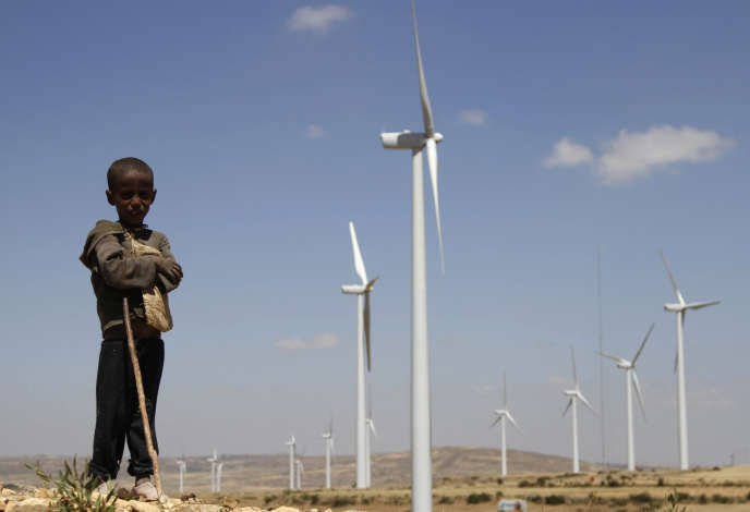 Des éoliennes dans le village de Mekelle, dans le nord de l'Ethiopie, en 2013.