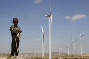 Le champ d'éoliennes d'Ashegoda, près de Mekele, au nord de l'Ethiopie), en 2013.