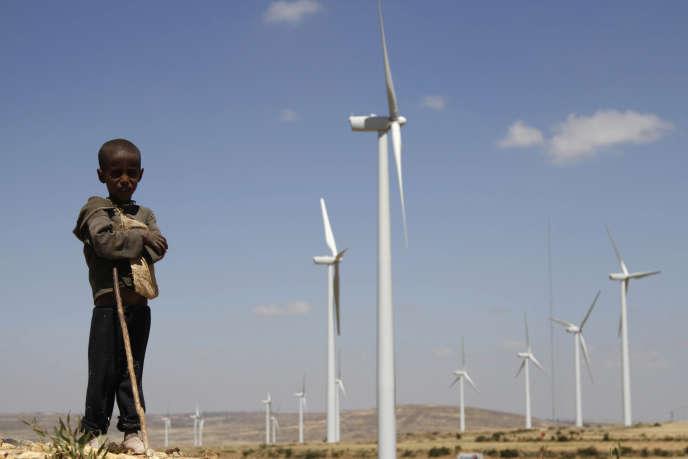 Dans le parc éolien de Mekelle, à 780 km au nord d'Addis Abeba.
