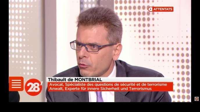 Thibault de Montbrial, avocat et ancien para, est un bon client pour les médias.