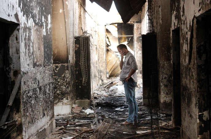 A Kunduz, en Afghanistan, où un hôpital de Médecins sans frontières a été frappé par un raid américain, le 3 octobre 2015.