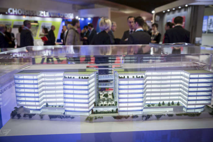 Maquette présentée au Salon de l'immobilier d'entreprise, qui se tient à Paris du 2 au 4décembre.