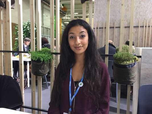 Ibtissame Baali, 23 ans, agent de liaison de la délégation italienne à la COP21.