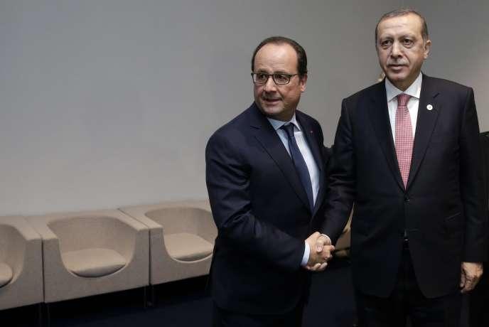 François Hollande et Recep Tayyip Erdogan, le 30 novembre 2015