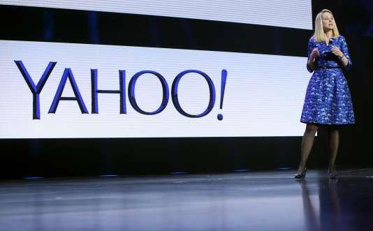Marissa Mayer, la PDG de Yahoo!, le 7 janvier 2014 à Las Vegas.