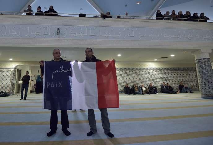A la grande mosquée de Strasbourg, le 20 novembre 2015.
