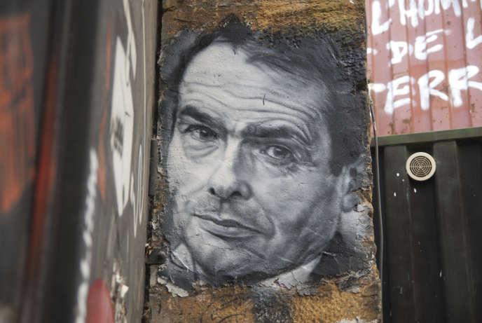 Portrait de Pierre Bourdieu dans la Demeure du chaos, Saint-Romain-au-Mont-d'Or (Rhône).