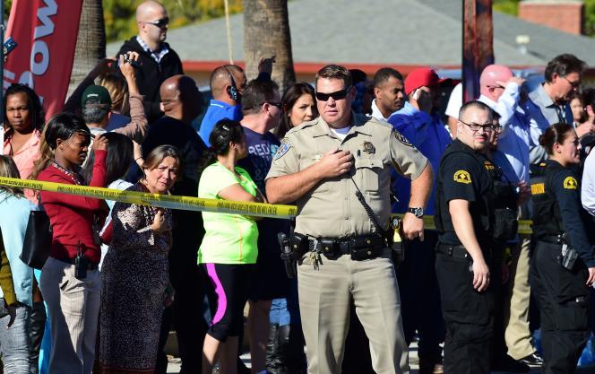 A proximité des lieux de la fusillade, à San Bernardino en Californie le 2 décembre.