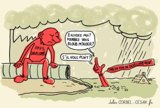 Un dessin du blog Atmosphère, Atmosphère des étudiants en bande dessinée du Cesan.