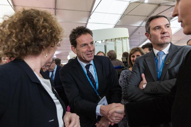 Geoffroy Roux de Bézieux, vice-président du Medef, à la galerie des solutions de la COP21, le 2 décembre 2015.