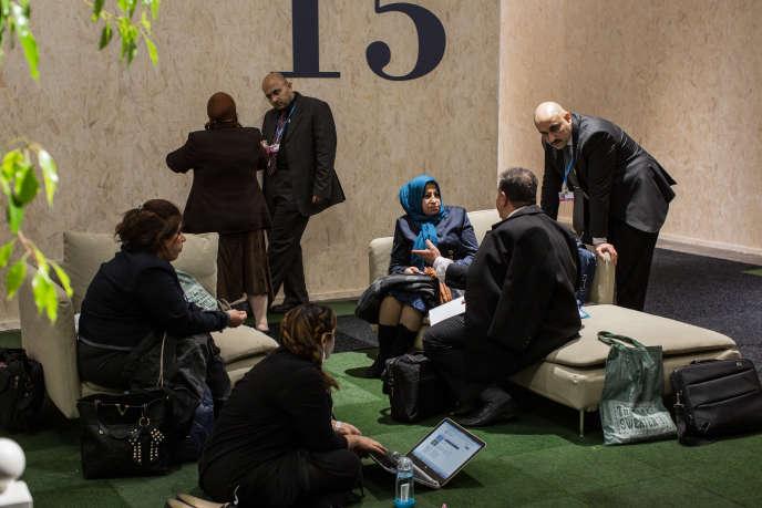 Le 1er décembre, dans les coulisses du hall 6 de la COP21, au Bourget.