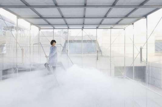 """Tetsuo Kondo en partenariat avec TRANSSOLAR, """"Cloudscapes"""", 2012, collection de l'artiste."""