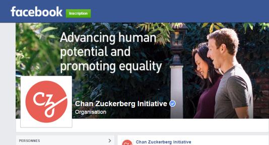 La page Facebook de la Chan Zuckerberg Initiative.