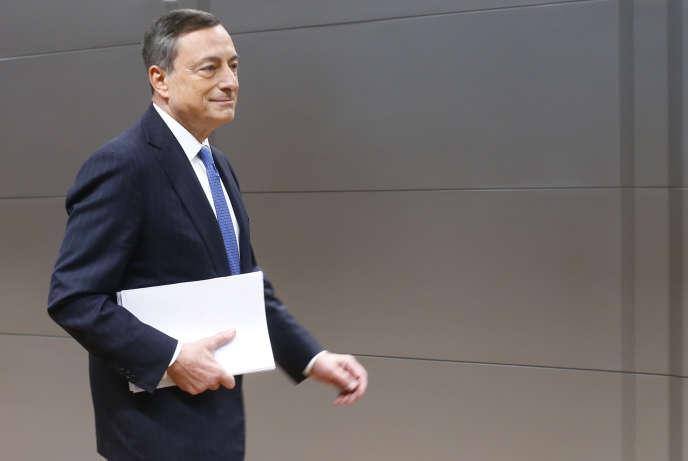 Le président de la Banque centrale européenne, Mario Draghi, à Francfort (Allemagne), mercredi 3 décembre.