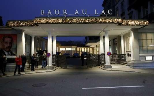 A l'hôtel de Baur au Lac de Zurich.