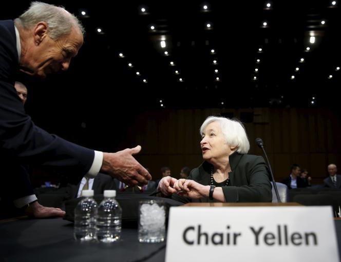 La patronne de la Réserve fédérale américaine, Janet Yellen, à  Washington le 3 décembre.