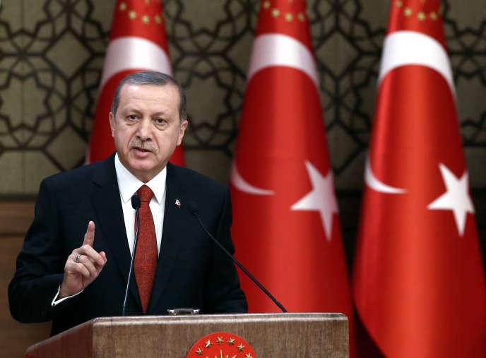 Le président Erdogan lors d'une conférence à Ankara le 3 décembre.