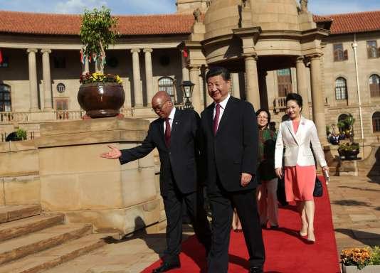 Xi Jinping et Jacob Zuma à Pretoria en Afrique du Sud le 2 décembre 2015.