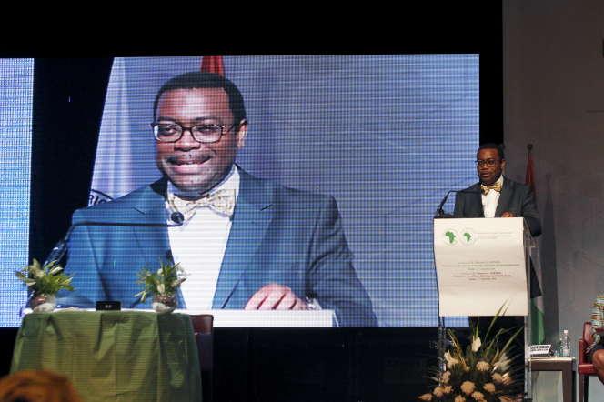 Le président de la Banque africaine de développement, Akinwumi Adesina, lors de son investiture, en 2015, à Abidjan.