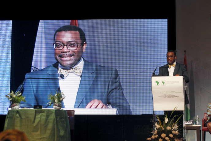 Le Nigérian Akinwumi Adesina, président de la Banque africaine de développement à Abidjan, le 1er septembre 2015.