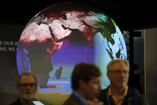 Le stand des Etats-Unis à la COP 21, 3 décembre 2015. / AFP / PATRICK KOVARIK