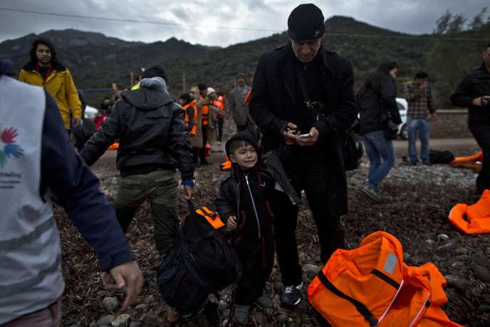 A Lesbos, le 3 décembre.