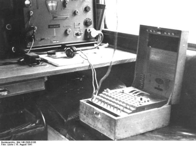 Une machine Enigma de la 7e division blindée en 1941.