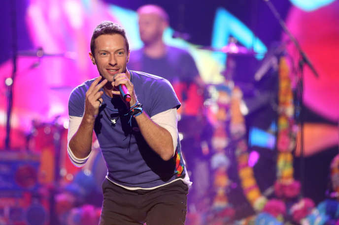 Chris Martin, leader de Coldplay, aux American Music Awards, le 22 novembre 2015.