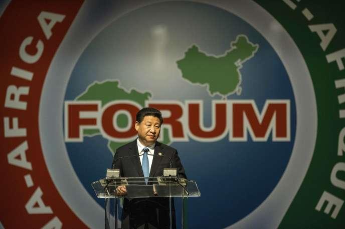 Le président chinois Xi Jinping lors du 6e Forum de coopération sino-africaine, à Johannesburg, le 4 décembre 2015.