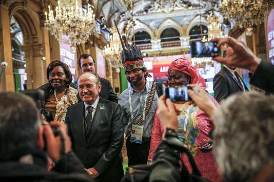 Sommet des maires dans le cadre de la Cop21, organisé à la mairie de Paris, vendredi 4 décembre 2015 - 2015©Jean-Claude Coutausse / french-politics pour Le Monde