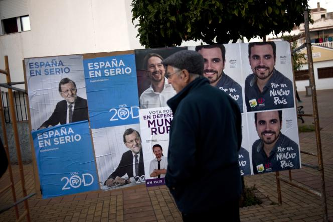 Les principales têtes de liste aux élections législatives du 20 décembre, à Ronda, le 4 décembre.