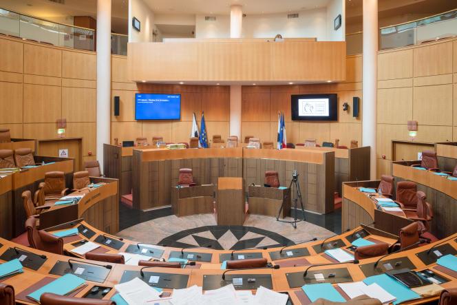 Collectivité Territoriale de Corse Hémicycle.  © Christophe Caudroy