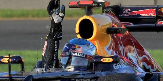 Sebastian Vettel pilote la Red Bull Renault lors du Grand Prix d'Australie, 18 mars 2012.