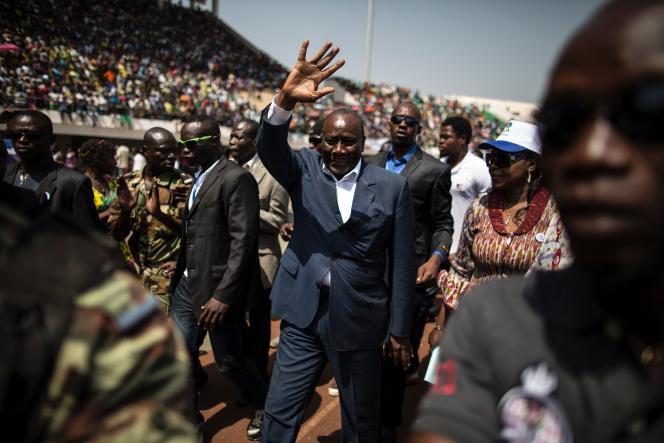 Karim Meckassoua, candidat à la présidentielle, le 5 décembre, à Bangui.