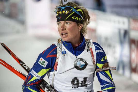 Marie Dorin-Habert, le 5 décembre à Ostersund, en Suède.