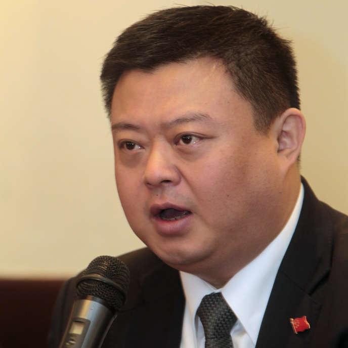 Le magnat chinois des télécoms, Wang Jing, le 23 décembre 2014 à Managua, la capitale du Nicaragua.