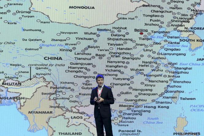 Le directeur d'Uber Travis Kalanick lors d'une conférence à Pékin en Chine le 8 septembre 2015.