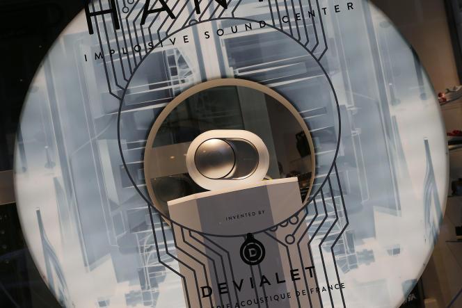 Lancement de Phantom, enceinte sans fil (Implosive Sound Center) de Devialet chez Colette à Paris. Le 16 février.