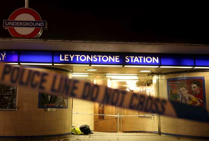 La station de métro de Leytonstone, dans l'est de Londres, oùMuhaydin Mire avait agressé au couteau plusieurs personnes.