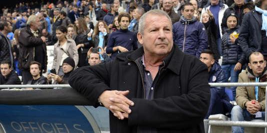 Rolland Courbis –ici, le 6décembre2015, au Stade-Vélodrome de Marseille– va prendre la tête du Stade rennais.