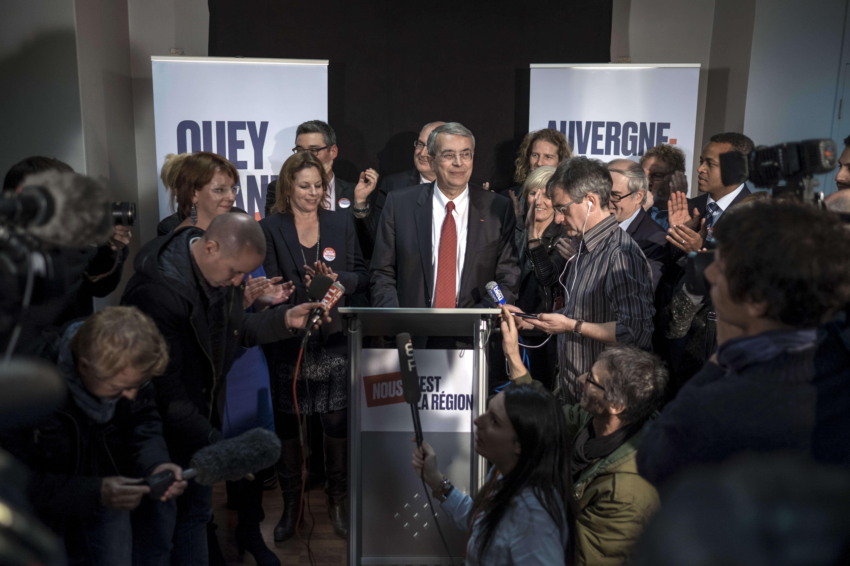 Discours de Jean-Jack Queyranne, candidat PS aux élections régionales Auvergne-Rhône-Alpes dans son QG après l'annonce des résultats de votes, à Lyon.