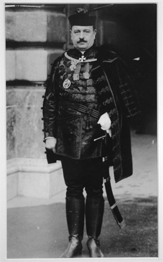 Balint Homan sur une photo non datée. Il fut ministre des cultes et de l'instruction publique entre 1932 et 1938, puis entre 1939 et 1942, et député entre 1932 et 1944.