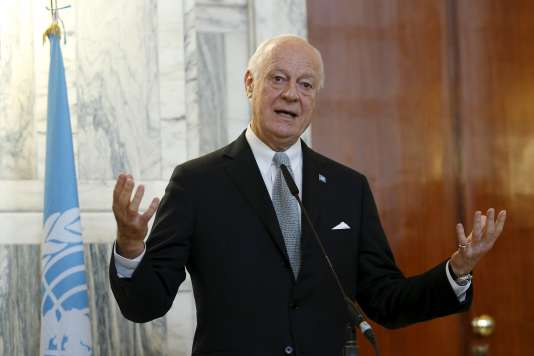Staffan de Mistura, le médiateur de l'ONU, le 7 décembre à Rome.