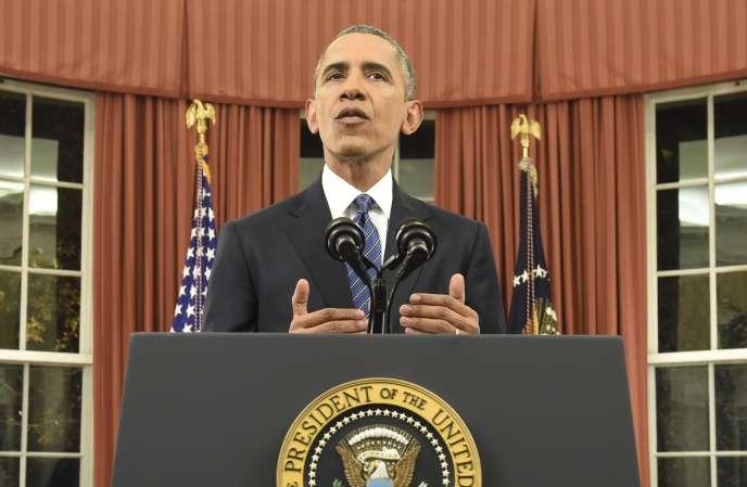 Le président américain, Barack Obama, lors de son discours à la nation, le  6 décembre.