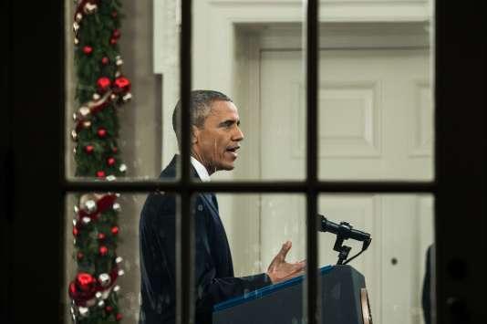 Barack Obama lors de son allocution télévisée sur le terrorisme le 6 décembre 2015.