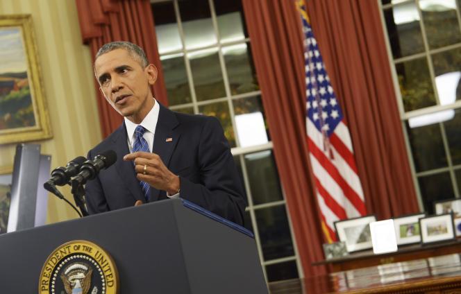 Barack Obama s'est adressé aux Américains dans le bureau Ovale de la Maison Blanche, dimanche 6 décembre.