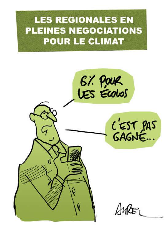 Le dessin d'Aurel sur la COP21, lundi 7 décembre.