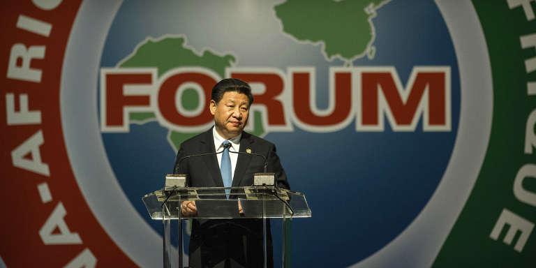 Le président chinois Xi Jinping lors du dernier forum Chine-Afrique à Johannesburg le 4 décembre 2015.