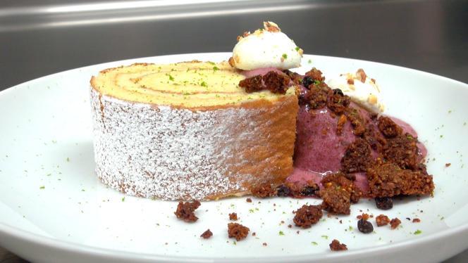 Le gâteau roulé de Marc Favier.