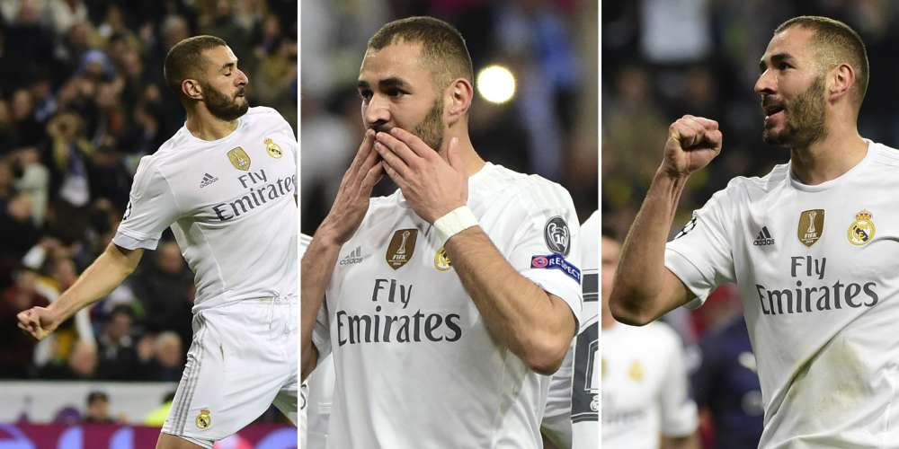 Et un et deux et trois... buts. Karim Benzema ne semble pas affecté par sa mise en examen dans l'affaire de la « sextape » et sa possible suspension de l'équipe de France. Il a inscrit un triplé face à Malmö.  Ce week-end, il était l'auteur d'un doublé.